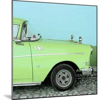Cuba Fuerte Collection SQ - Close-up of Retro Lime Green Car-Philippe Hugonnard-Mounted Photographic Print