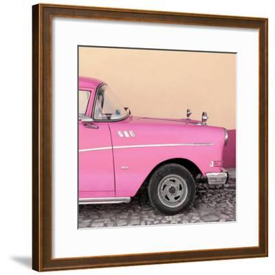 Cuba Fuerte Collection SQ - Close-up of Retro Pink Car-Philippe Hugonnard-Framed Photographic Print
