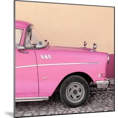 Cuba Fuerte Collection SQ - Close-up of Retro Pink Car-Philippe Hugonnard-Mounted Photographic Print