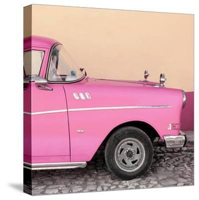 Cuba Fuerte Collection SQ - Close-up of Retro Pink Car-Philippe Hugonnard-Stretched Canvas Print