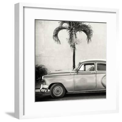 Cuba Fuerte Collection SQ BW - Beautiful Retro Car-Philippe Hugonnard-Framed Photographic Print