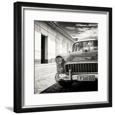Cuba Fuerte Collection SQ BW - Old Classic Car 1955 Chevy-Philippe Hugonnard-Framed Photographic Print