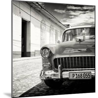 Cuba Fuerte Collection SQ BW - Old Classic Car 1955 Chevy-Philippe Hugonnard-Mounted Photographic Print