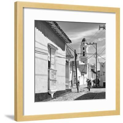 Cuba Fuerte Collection SQ BW - Architecture Trinidad-Philippe Hugonnard-Framed Photographic Print