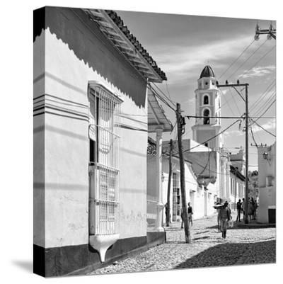 Cuba Fuerte Collection SQ BW - Architecture Trinidad-Philippe Hugonnard-Stretched Canvas Print