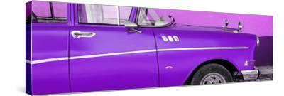 Cuba Fuerte Collection Panoramic - Close-up of Retro Purple Car-Philippe Hugonnard-Stretched Canvas Print