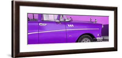 Cuba Fuerte Collection Panoramic - Close-up of Retro Purple Car-Philippe Hugonnard-Framed Photographic Print