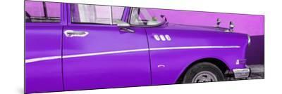Cuba Fuerte Collection Panoramic - Close-up of Retro Purple Car-Philippe Hugonnard-Mounted Photographic Print
