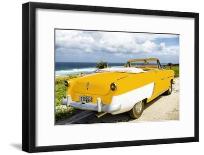 Cuba Fuerte Collection - Classic Yellow Car Cabriolet-Philippe Hugonnard-Framed Photographic Print