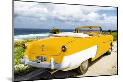 Cuba Fuerte Collection - Classic Yellow Car Cabriolet-Philippe Hugonnard-Mounted Photographic Print