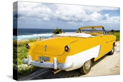 Cuba Fuerte Collection - Classic Yellow Car Cabriolet-Philippe Hugonnard-Stretched Canvas Print