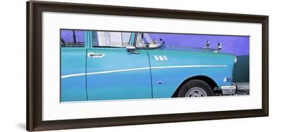 Cuba Fuerte Collection Panoramic - Close-up of Retro Turquoise Car-Philippe Hugonnard-Framed Photographic Print