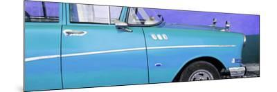 Cuba Fuerte Collection Panoramic - Close-up of Retro Turquoise Car-Philippe Hugonnard-Mounted Photographic Print