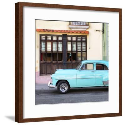 Cuba Fuerte Collection SQ - Havana Club and Blue Classic Car-Philippe Hugonnard-Framed Photographic Print