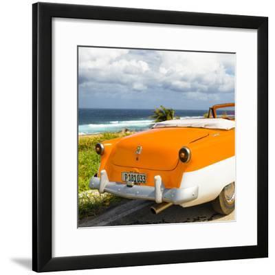 Cuba Fuerte Collection SQ - Classic Orange Car Cabriolet-Philippe Hugonnard-Framed Photographic Print