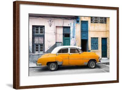 Cuba Fuerte Collection - Havana's Orange Vintage Car-Philippe Hugonnard-Framed Photographic Print