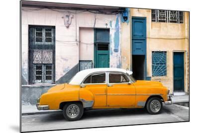 Cuba Fuerte Collection - Havana's Orange Vintage Car-Philippe Hugonnard-Mounted Photographic Print