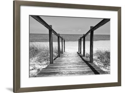 Cuba Fuerte Collection B&W - Wooden Pier on Tropical Beach II-Philippe Hugonnard-Framed Photographic Print