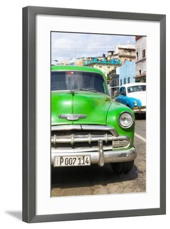 Cuba Fuerte Collection - Green Chevy II-Philippe Hugonnard-Framed Photographic Print