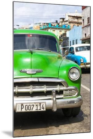Cuba Fuerte Collection - Green Chevy II-Philippe Hugonnard-Mounted Photographic Print