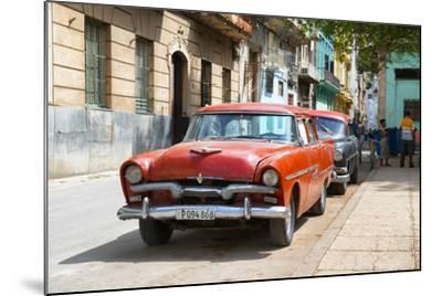 Cuba Fuerte Collection - Red Classic Car in Havana-Philippe Hugonnard-Mounted Photographic Print