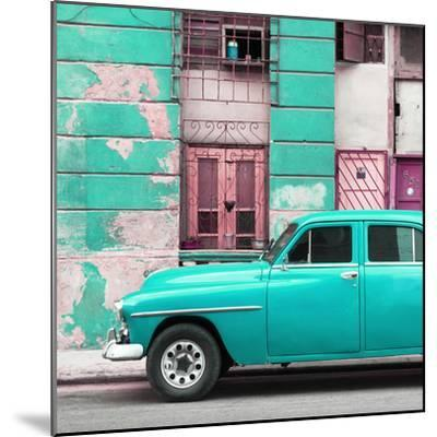 Cuba Fuerte Collection SQ - Turquoise Classic American Car-Philippe Hugonnard-Mounted Photographic Print