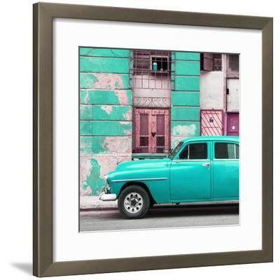 Cuba Fuerte Collection SQ - Turquoise Classic American Car-Philippe Hugonnard-Framed Photographic Print