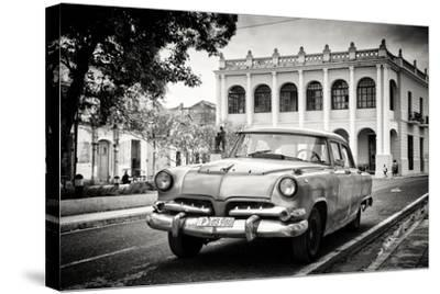 Cuba Fuerte Collection B&W - Cuban Classic Car-Philippe Hugonnard-Stretched Canvas Print
