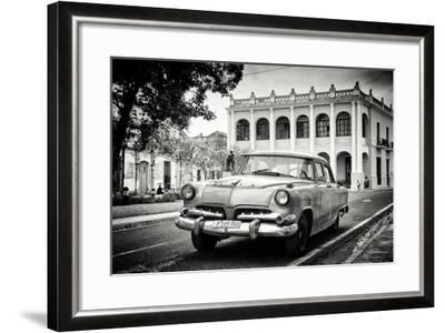 Cuba Fuerte Collection B&W - Cuban Classic Car-Philippe Hugonnard-Framed Photographic Print