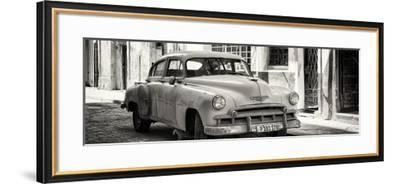 Cuba Fuerte Collection Panoramic BW - Old Chevrolet-Philippe Hugonnard-Framed Photographic Print