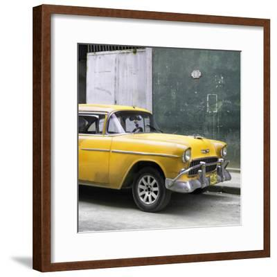 Cuba Fuerte Collection SQ - Yellow Chevy-Philippe Hugonnard-Framed Photographic Print