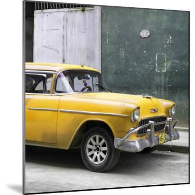 Cuba Fuerte Collection SQ - Yellow Chevy-Philippe Hugonnard-Mounted Photographic Print