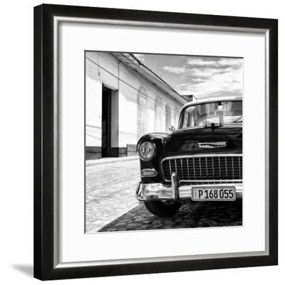 Cuba Fuerte Collection SQ BW - Classic Car 1955 Chevy-Philippe Hugonnard-Framed Photographic Print