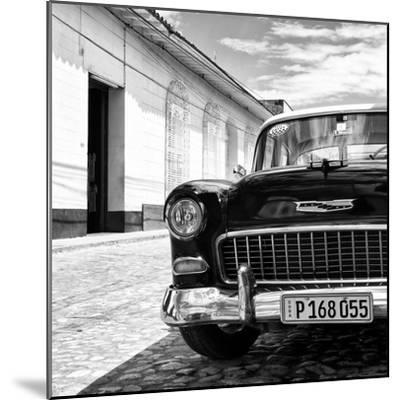 Cuba Fuerte Collection SQ BW - Classic Car 1955 Chevy-Philippe Hugonnard-Mounted Photographic Print