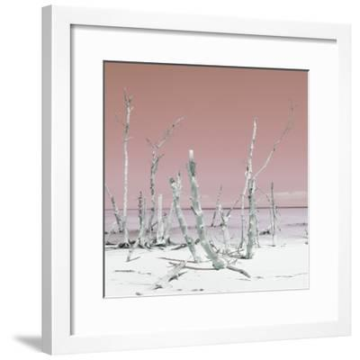 Cuba Fuerte Collection SQ - Wild Ocean - Pastel Red-Philippe Hugonnard-Framed Photographic Print