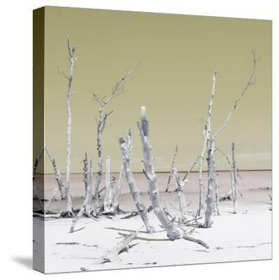 Cuba Fuerte Collection SQ - Wild Ocean - Pastel Yellow-Philippe Hugonnard-Stretched Canvas Print