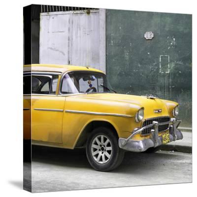 Cuba Fuerte Collection SQ - Yellow Chevy-Philippe Hugonnard-Stretched Canvas Print