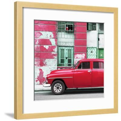 Cuba Fuerte Collection SQ - Red Classic American Car-Philippe Hugonnard-Framed Photographic Print