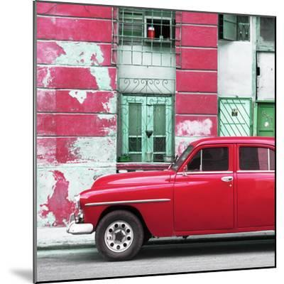 Cuba Fuerte Collection SQ - Red Classic American Car-Philippe Hugonnard-Mounted Photographic Print