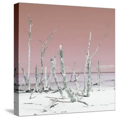 Cuba Fuerte Collection SQ - Wild Ocean - Pastel Red-Philippe Hugonnard-Stretched Canvas Print