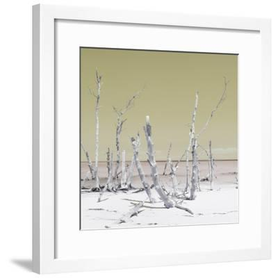 Cuba Fuerte Collection SQ - Wild Ocean - Pastel Yellow-Philippe Hugonnard-Framed Photographic Print