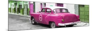 Cuba Fuerte Collection Panoramic - Pink Taxi Pontiac 1953-Philippe Hugonnard-Mounted Photographic Print