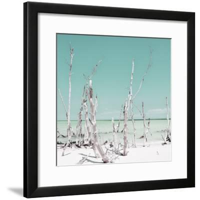 Cuba Fuerte Collection SQ - Ocean Wild Nature - Pastel Coral Green-Philippe Hugonnard-Framed Photographic Print