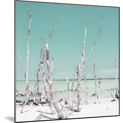 Cuba Fuerte Collection SQ - Ocean Wild Nature - Pastel Coral Green-Philippe Hugonnard-Mounted Photographic Print