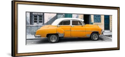 Cuba Fuerte Collection Panoramic - Havana's Orange Vintage Car-Philippe Hugonnard-Framed Photographic Print