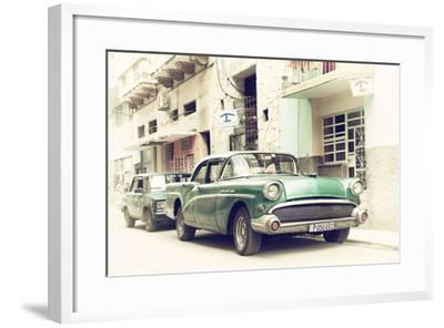 Cuba Fuerte Collection - Cuban Taxi to Havana-Philippe Hugonnard-Framed Photographic Print