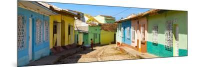 Cuba Fuerte Collection Panoramic - Colorful Architecture Trinidad IV-Philippe Hugonnard-Mounted Photographic Print