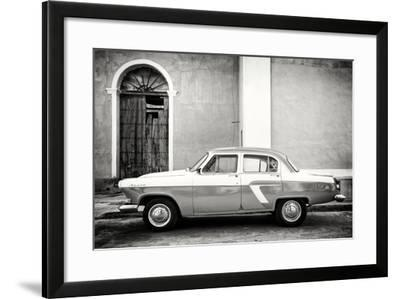 Cuba Fuerte Collection B&W - Old Classic Car in Santa Clara-Philippe Hugonnard-Framed Photographic Print