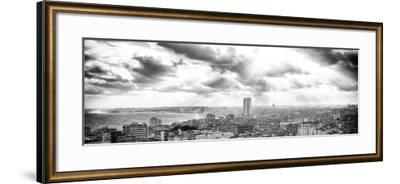 Cuba Fuerte Collection Panoramic BW - Rays of light on Havana-Philippe Hugonnard-Framed Photographic Print