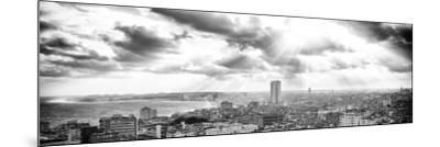 Cuba Fuerte Collection Panoramic BW - Rays of light on Havana-Philippe Hugonnard-Mounted Photographic Print